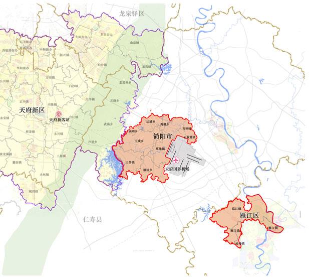 记者获悉,《纲要》明确临空经济区规划总面积为298平方公里,由成都图片